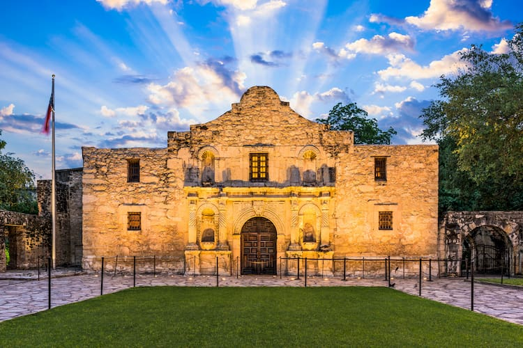 The Alamo mission church
