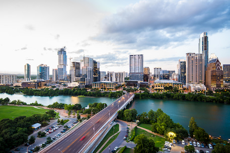 the city skyline of Austin, Texas