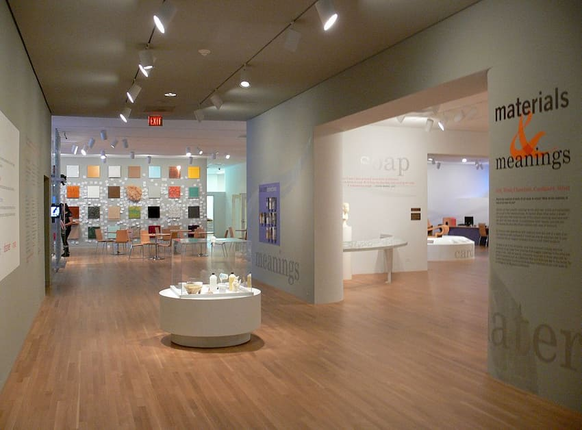 """a small viewing area at the Dallas Museum of Art's """"materials and meanings"""" exhibit"""