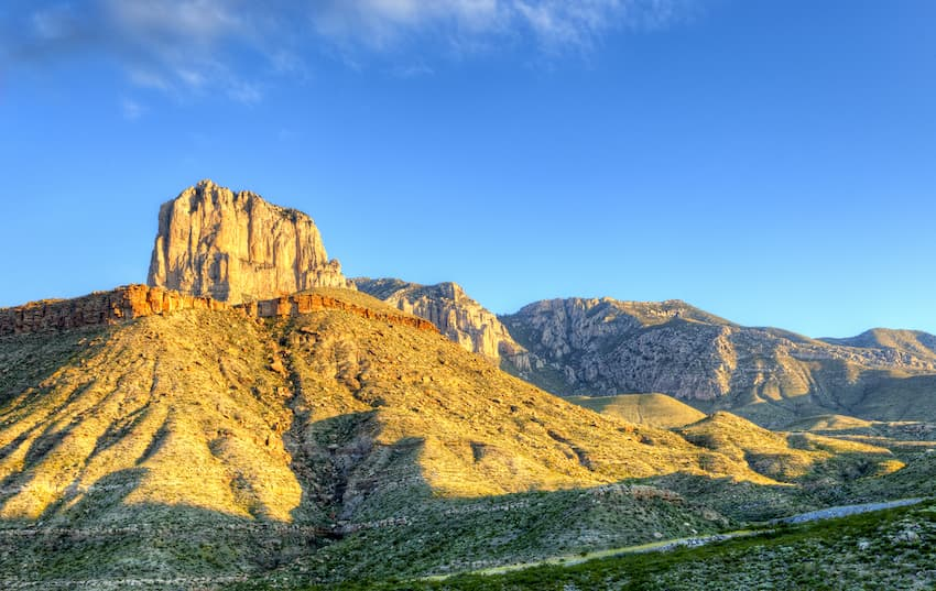 Peak of Guadalupe Mountain in Texas National Park