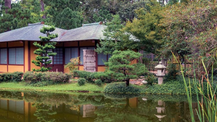 Japanese Gardens in Hermann Park