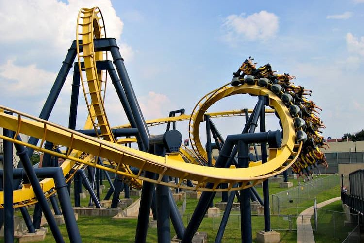 Roller coaster at Six Flags Over Texas