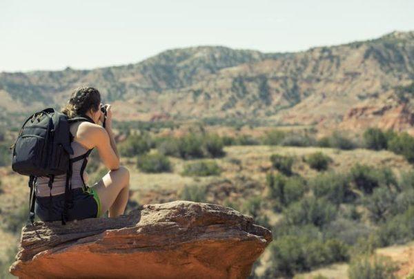 Woman hiking in Texas