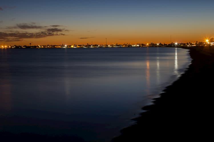 Rockport Beach at night